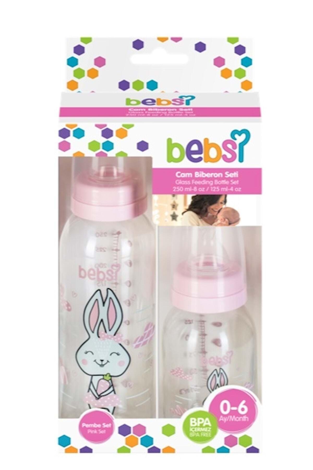 Wee Baby Bebsi Cam Biberon Seti (250ml+125ml) - Pembe 2