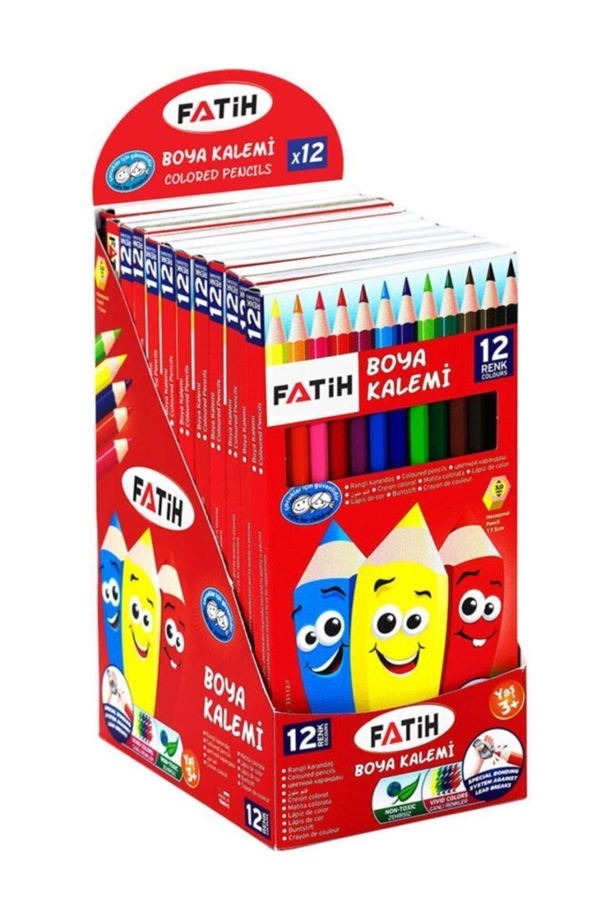 Fatih Kuru Boya 12 Renk Tam Boy Karton Kutu 1