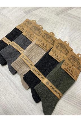 Ervanur Kral Erkek Çorap Lambswool 5'li Paket