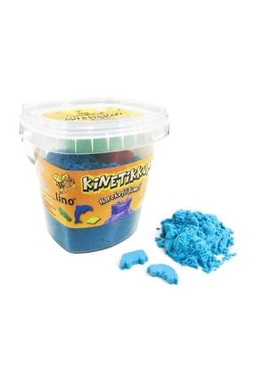 Lino Kinetik Kum 500 gr. Kova + 3 Kalıp Mavi