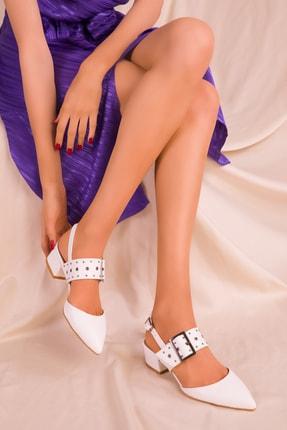 SOHO Beyaz Kadın Klasik Topuklu Ayakkabı 14707