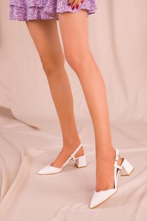 SOHO Beyaz Kadın Klasik Topuklu Ayakkabı 14656