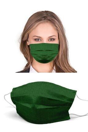 Puumask Keten Yeşil Yıkanabilir Yeni Nesil Kumaş Telli Bez Maske