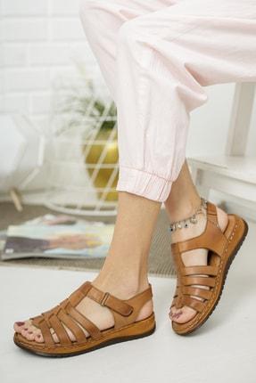 Deripabuc Hakiki Deri Taba Kadın Deri Sandalet Dp05-0246