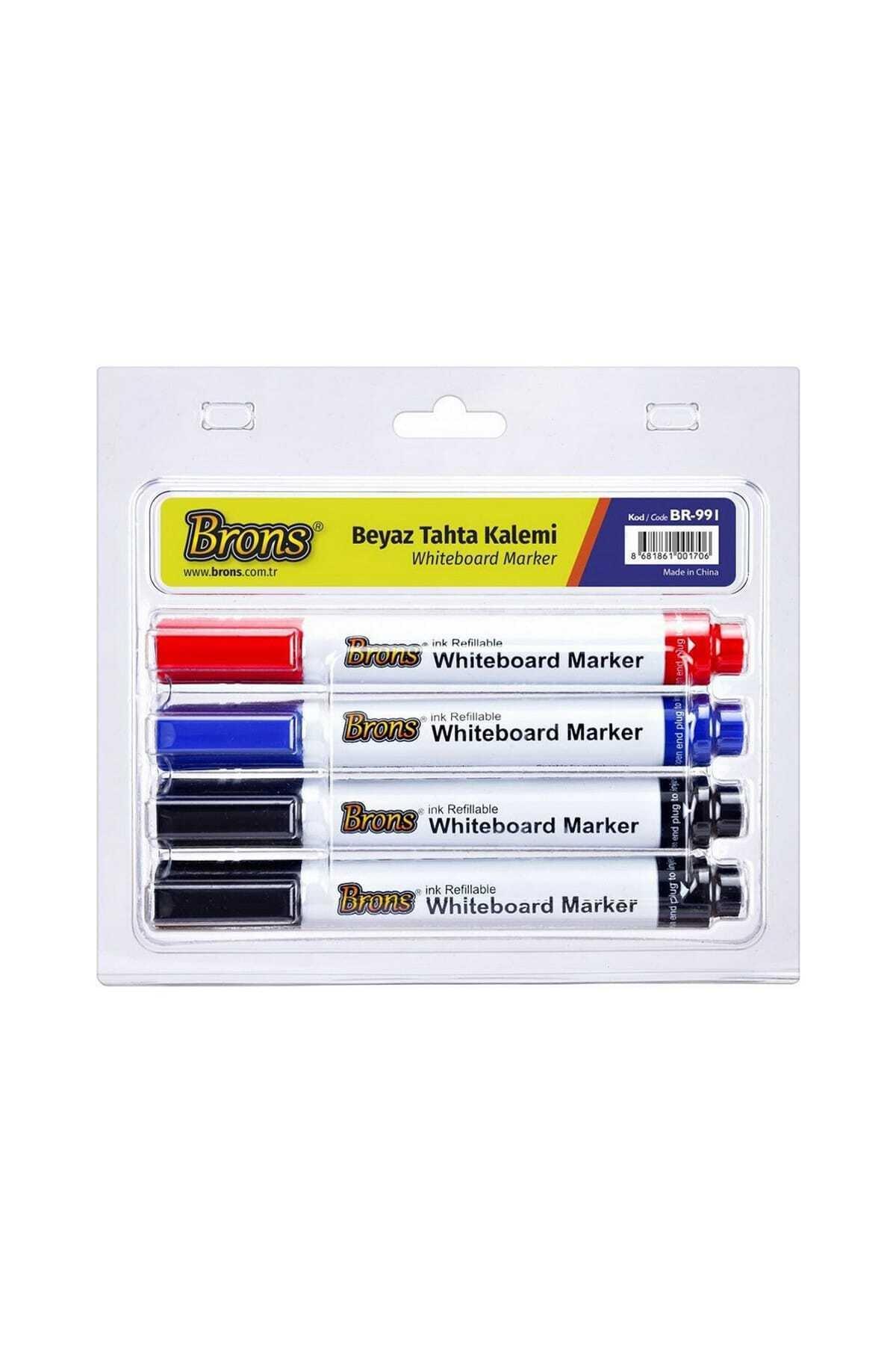 Brons Doldurulabilir Beyaz Tahta Kalemi 4 Lü Set (BR-991) 1