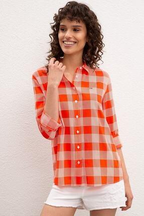 U.S. Polo Assn. Kirmizi Kadın Dokuma Gömlek