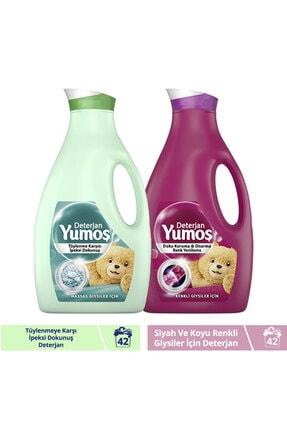 Yumoş Sıvı Bakım Çamaşır Deterjanı Hassas Giysiler İçin 2520ML + Renkli Giysiler İçin 2520ML