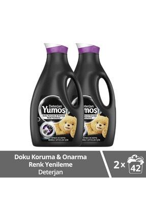 Yumoş Sıvı Bakım Çamaşır Deterjanı Siyah ve Koyu Renkli Giysiler İçin 2520 ML x2