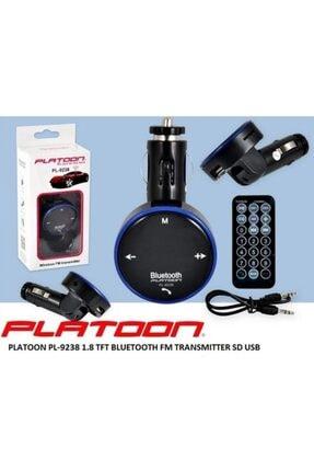 Platoon Pl-9238 Araç Oto Bluetooth Fm Transmitter Çakmak Şarj-siyah