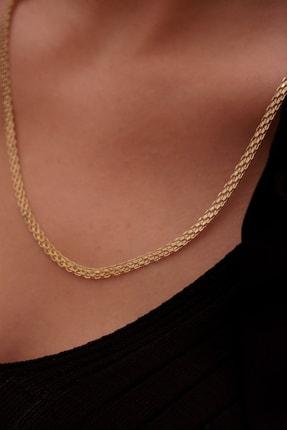 ALTINTAŞ KUYUMCULUK Kadın Sarı Sepet Altın Zincir 50 cm