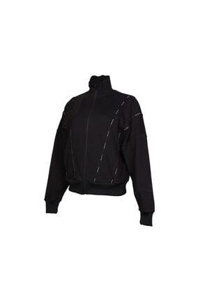 HUMMEL Kadın Siyah Acton Fermuarlı Sweatshirt