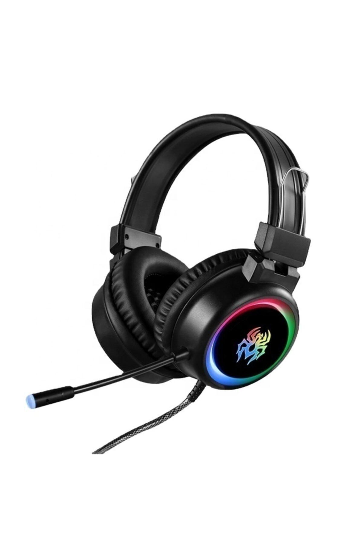 OWWOTECH Yoro V5 Profesyonel Oyuncu Kulaklığı Rgb Kablolu Işıklı Mikrofonlu Kulaklık Usbli+3.5 Mm Jack 1