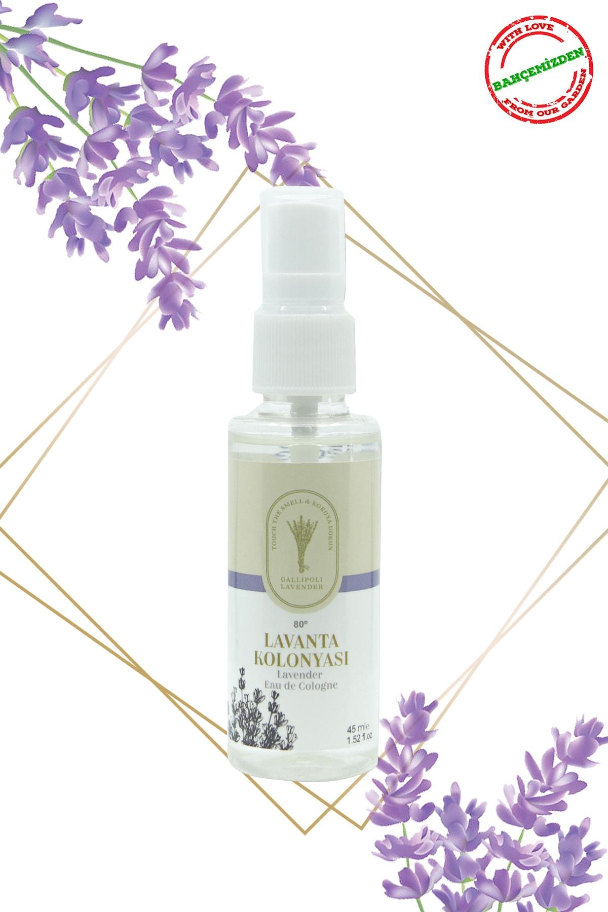 Gallipoli Lavender Lavanta Yağlı Kolonya 80 Derece Sprey 45 ml Lavanta Kolonyası 5 Adet 2
