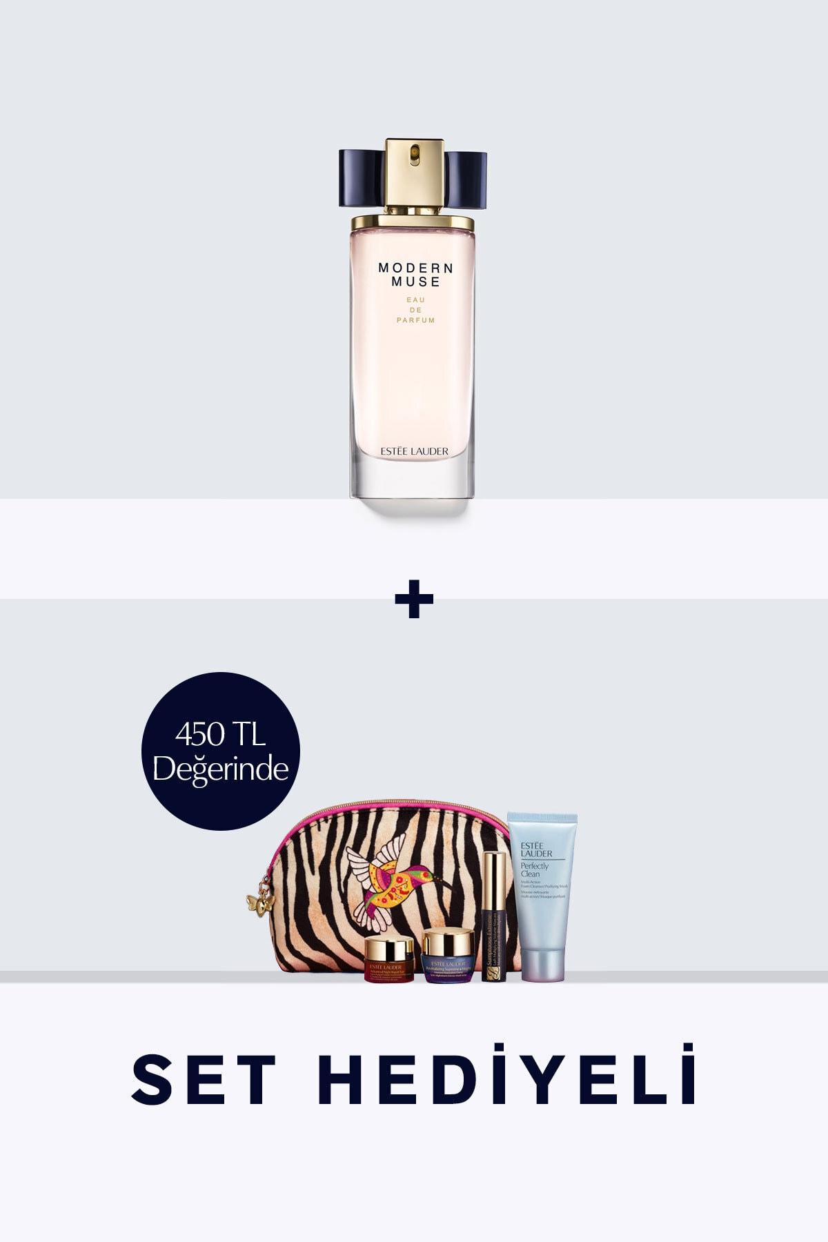 Estee Lauder Modern Muse Edp 100ml Kadın Parfüm Ve Hediye Cilt Bakım Seti 1