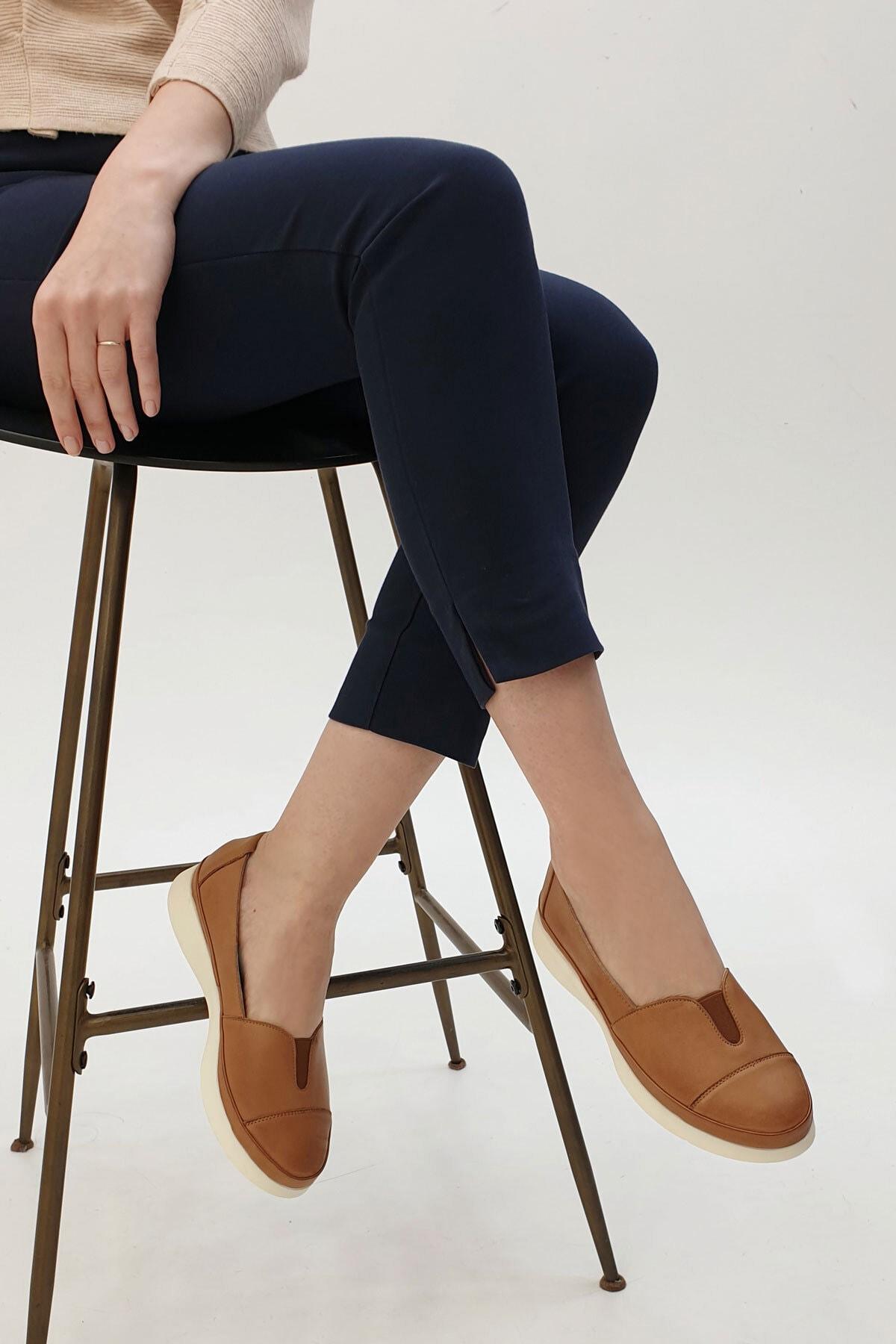 Marjin Meyza Kadın Hakiki Deri Comfort Ayakkabıtaba