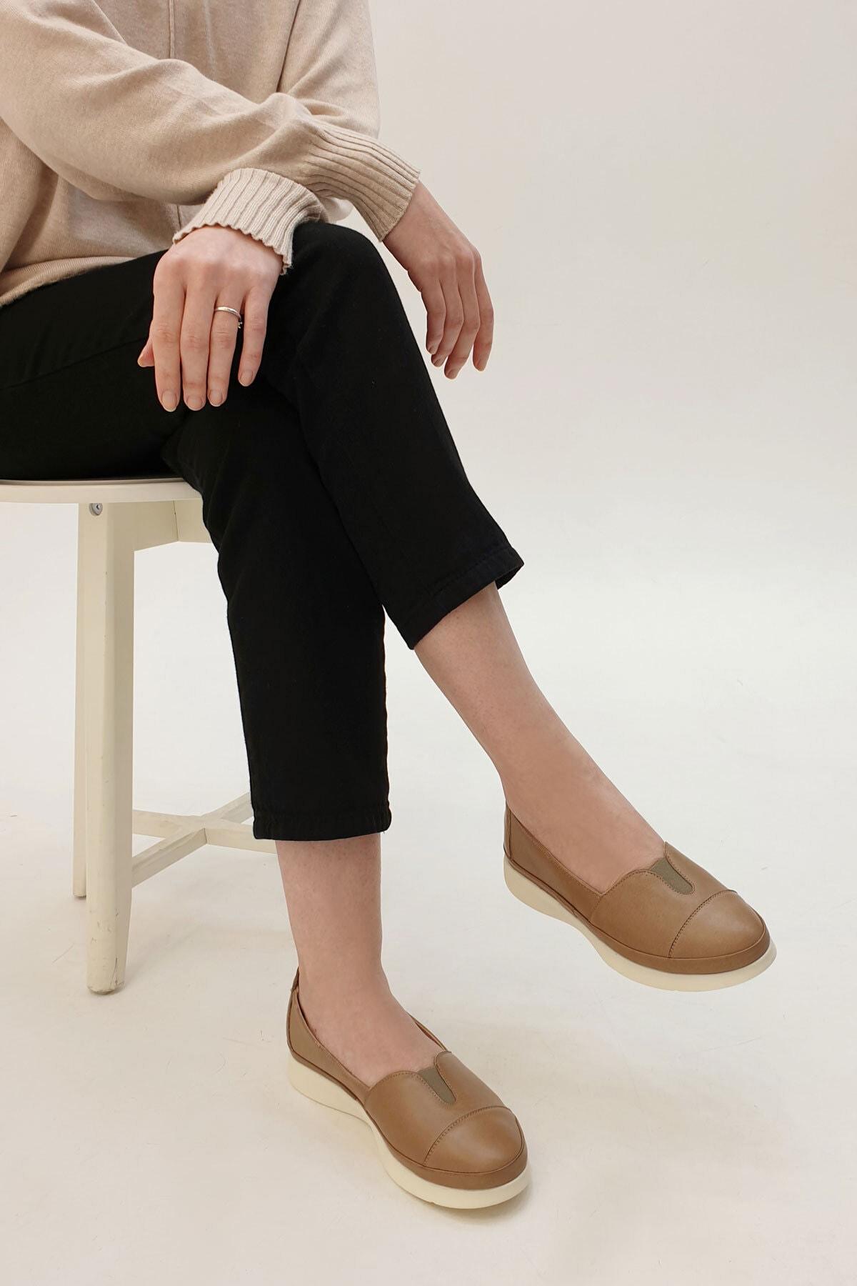 Marjin Meyza Kadın Hakiki Deri Comfort Ayakkabıvizon