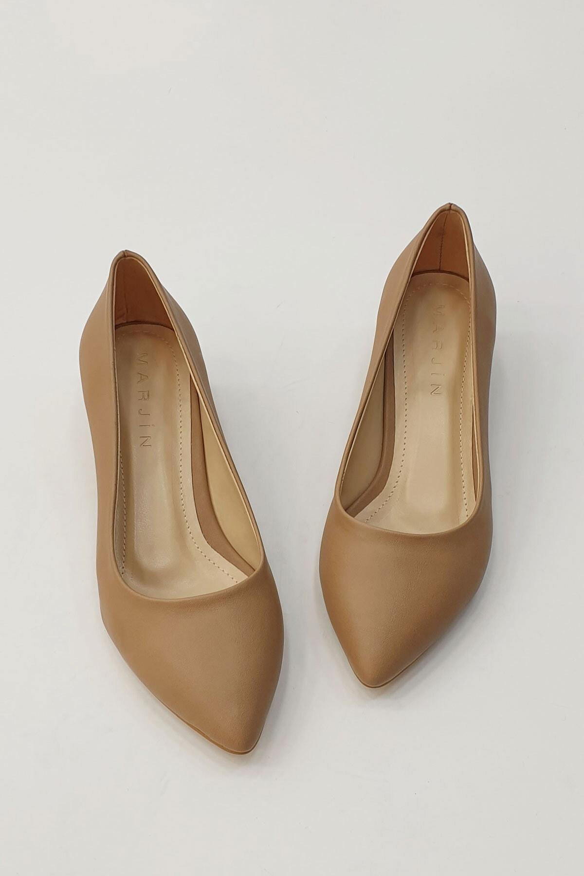 Marjin Kadın Apunte Klasik Topuklu AyakkabıVizon 1