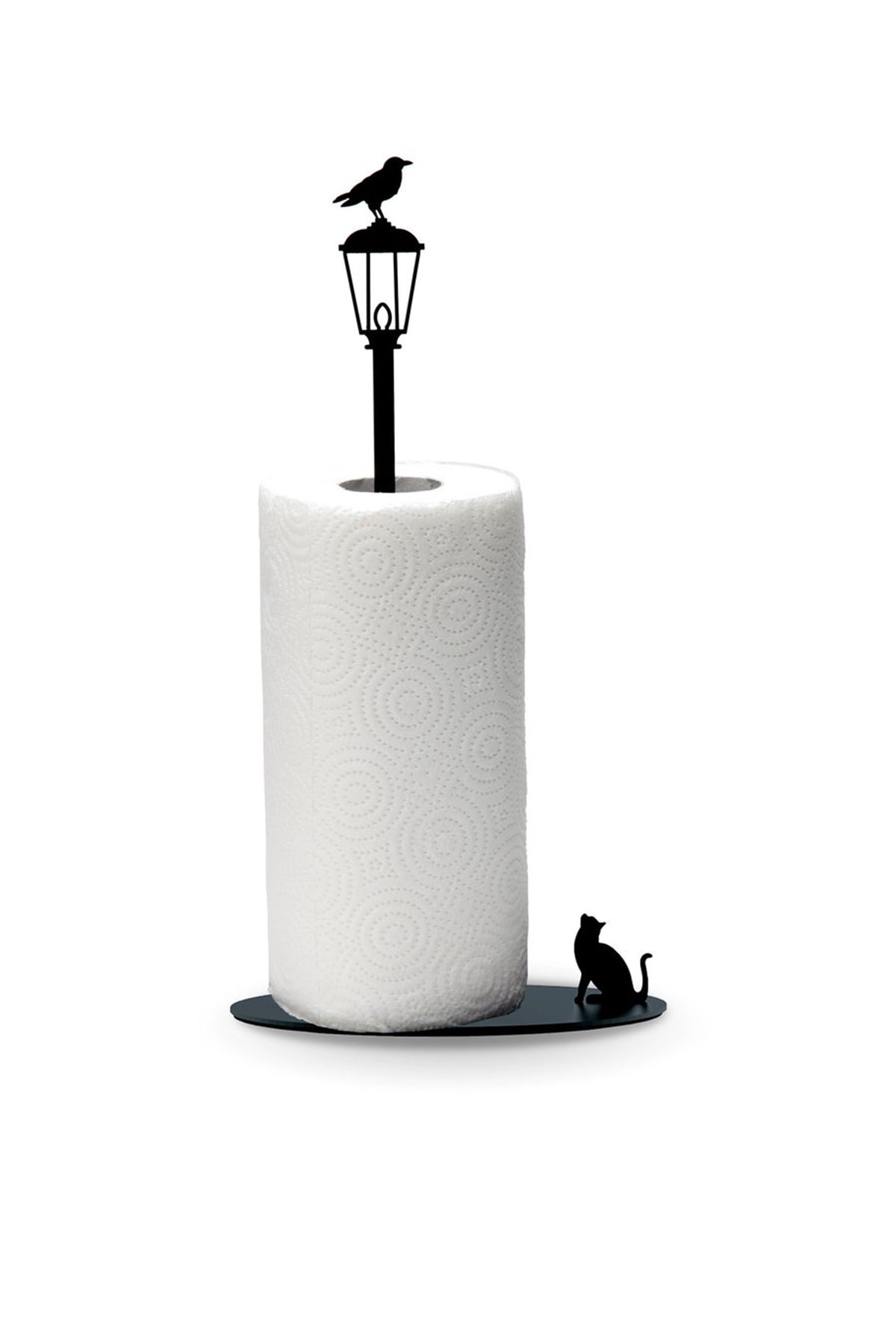 Svava Kağıt Havluluk Kedi Ve Karga Metal Mutfak Kağıt Standı 1