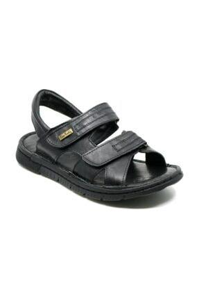 Pierre Cardin Erkek  Siyah Hakiki Deri Sandalet  2625