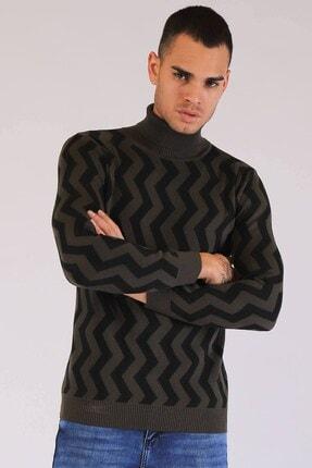 Twister Jeans Twister Balıkçı Yaka Erk.triko Et 3474 Haki-siyah