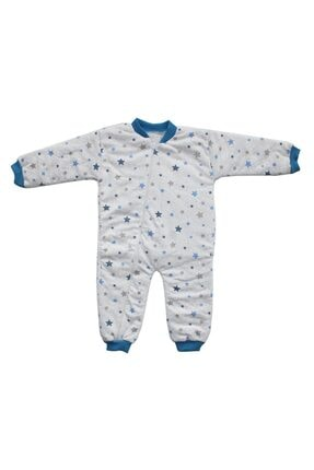 bebegen Erkek Çocuk Gri Mavi Yıldızlı Uyku Tulumu