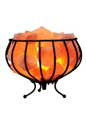 SULSALT Ferforje Sepet Himalaya Tuz Lambası | Orijinal Himalaya Kaya Tuzu Lambası 4.5-5 Kg