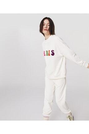 Twist Flok Baskılı Sweatshirt