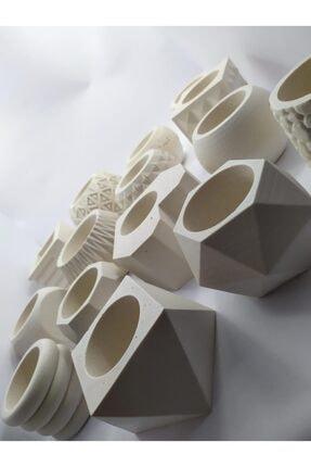 betoncraft 15'li Beton Saksı (Sukulent,kaktüs,dekoratif Çiçek Saksıları)