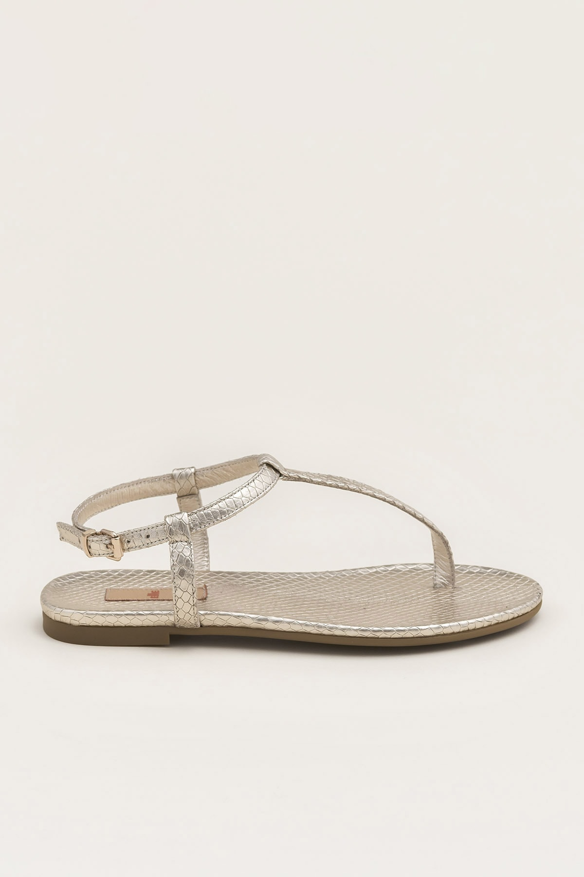 Elle Shoes RADELLA Hakiki Deri Gold Kadın Sandalet 20YLT101119 1