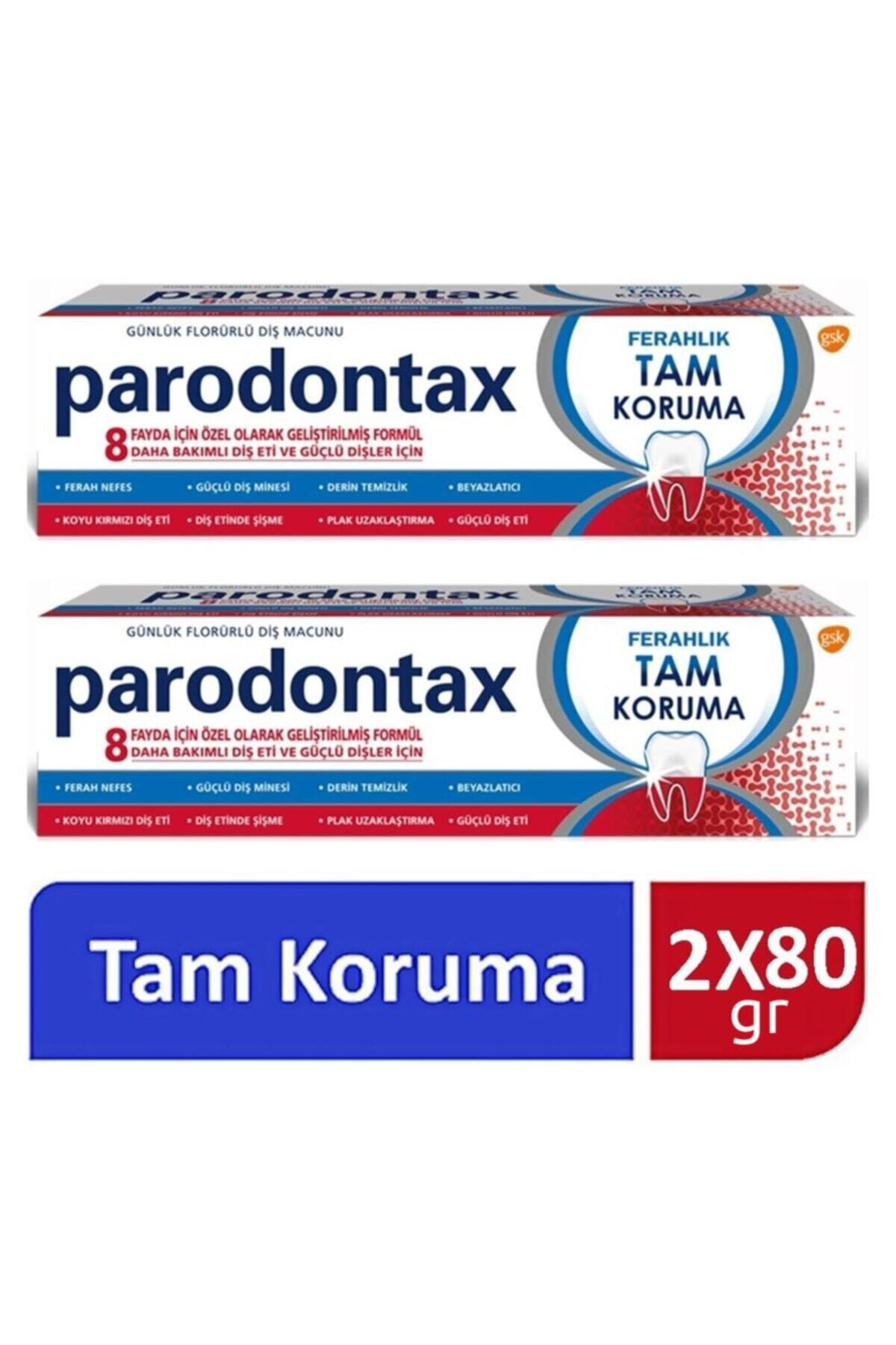 Paradontax Parodontax Diş Macunu Ferahlık Tam Koruma 2 X 80 Gr 1