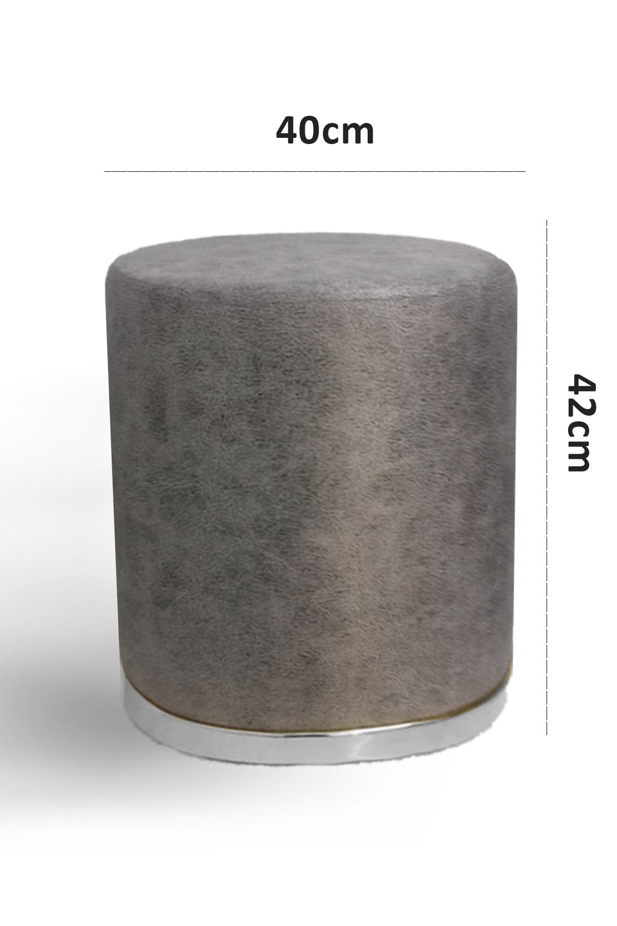 Zem Nora Silinebilir Puf - Grey Silver 2