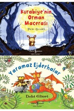 İş Bankası Kültür Yayınları 3-6 Yaş Renkli Resimli Büyük Boy Çocuk Masal Kitapları Seti 2 Kitap Yaramaz Ejderhalar-kurabiyenin