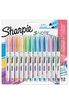 Sharpie Sharpıe Snote Kreatif Markör, Kesik Uç 12'li Blist