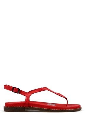 Hammer Jack Kadın Kırmızı Terlik Sandalet 194 2069-z