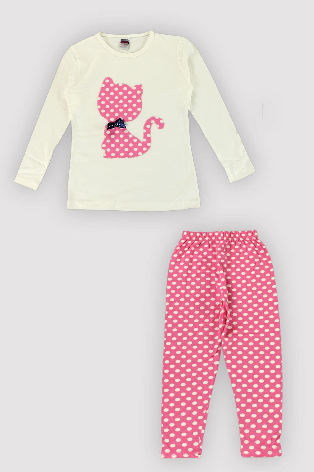 Peki 4 Mevsim Kız Çocuk Likralı Karışık Renk-nakış Puanlı Taytlı Takım 12343 1