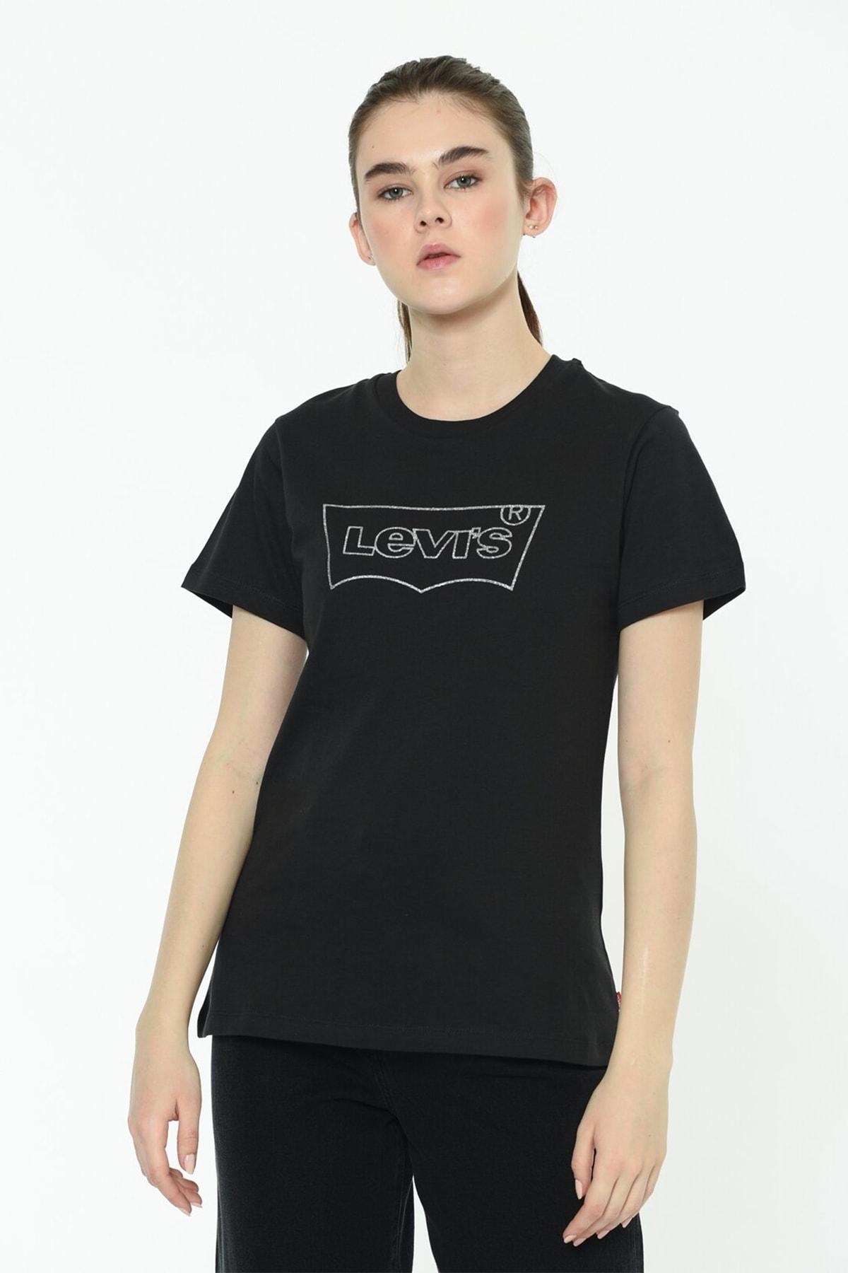 Levi's Kadın The Perfect Siyah T-shirt - 17369-1328 1