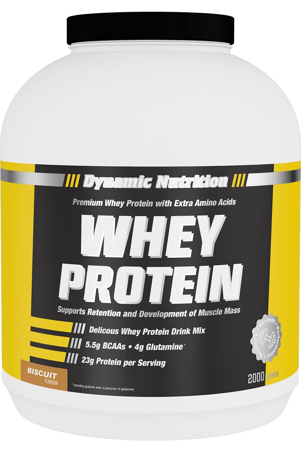 Dynamic Nutrition Whey Protein Tozu 2000 Gr (bisküvi Aromalı) 1