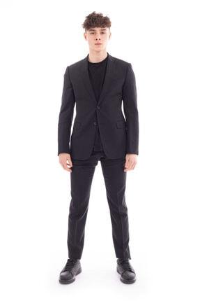 Emporio Armani Erkek Siyah Takım Elbise