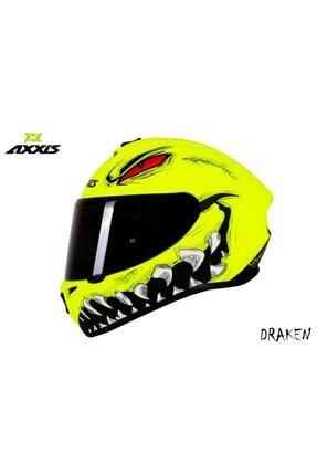 AXXIS Kask Draken Forza Matt Flou Yellow