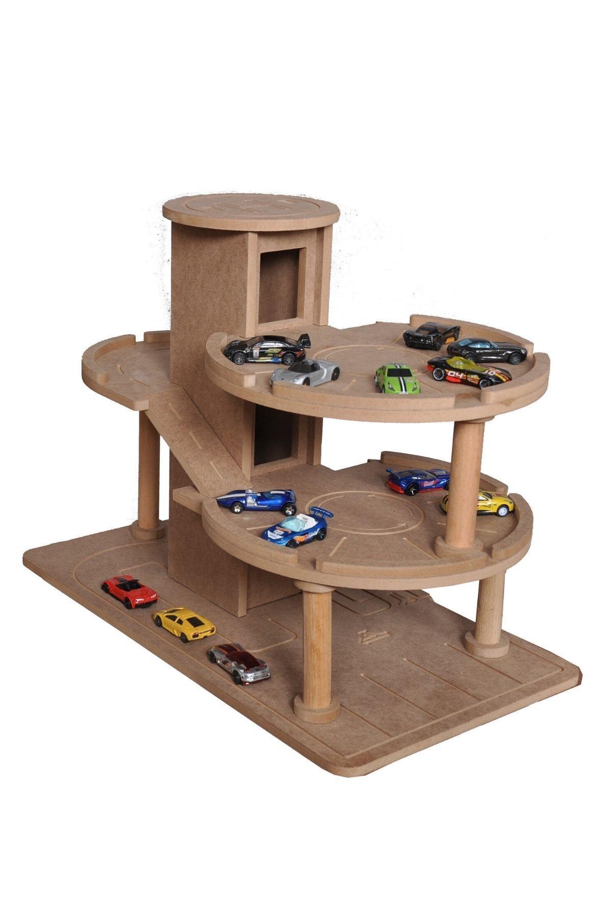 Hedef Ahşap Katlı Otopark Garaj Oyuncak 1