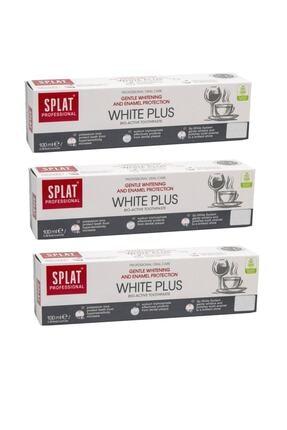 Splat White Plus Diş Macunu 100 ml X3 Adet