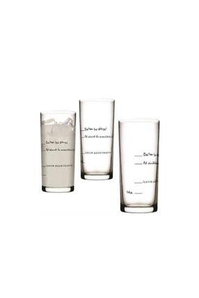 Paşabahçe Içelim Güzelleşelim 6lı Rakı Bardağı Seti
