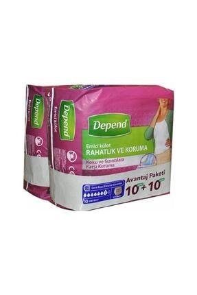 Depend Kadın Orta Emici Külot 10+10 Avantaj Paket