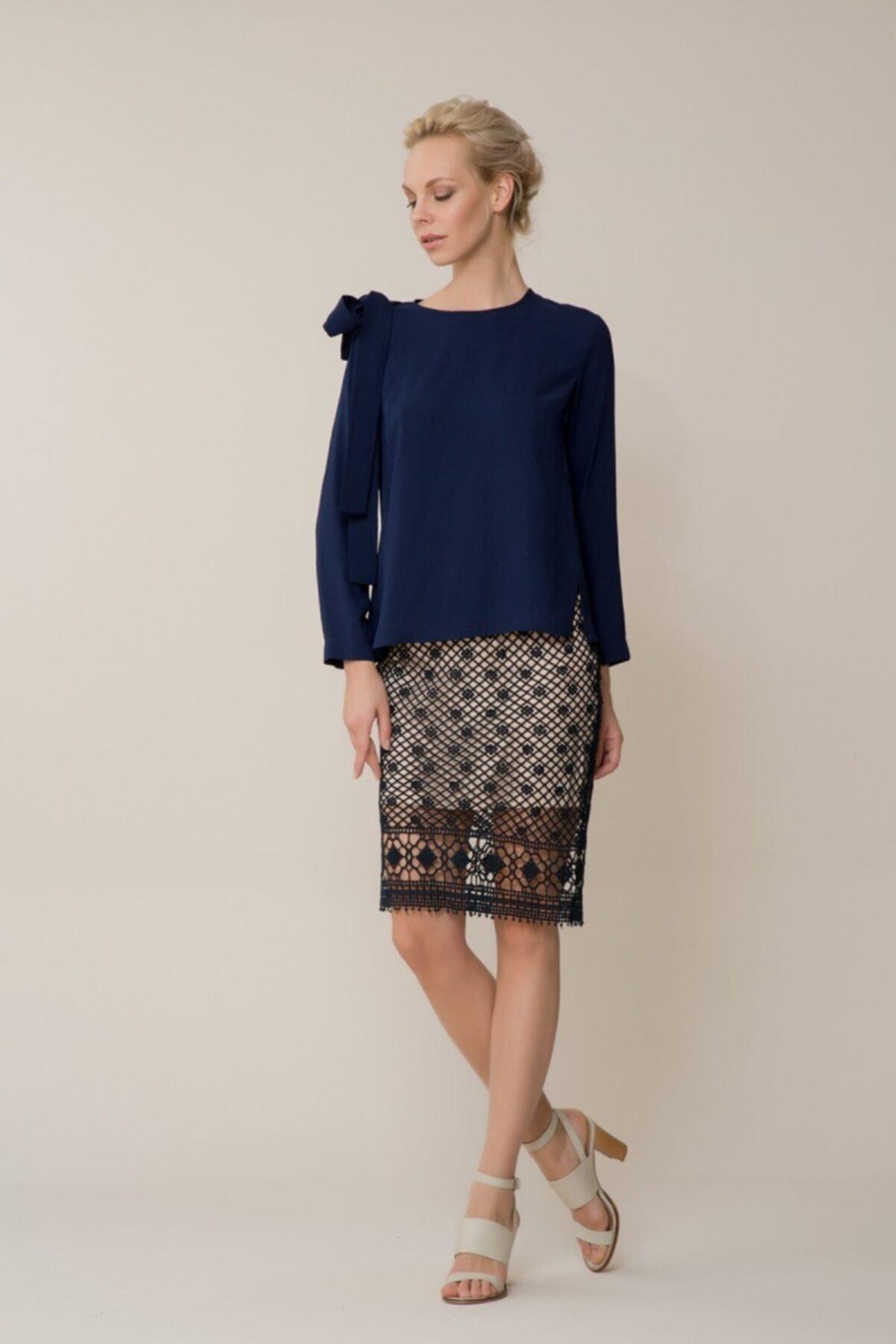GIZIA CASUAL Kadın Lacivert Bluz M18YBW09412EB 1