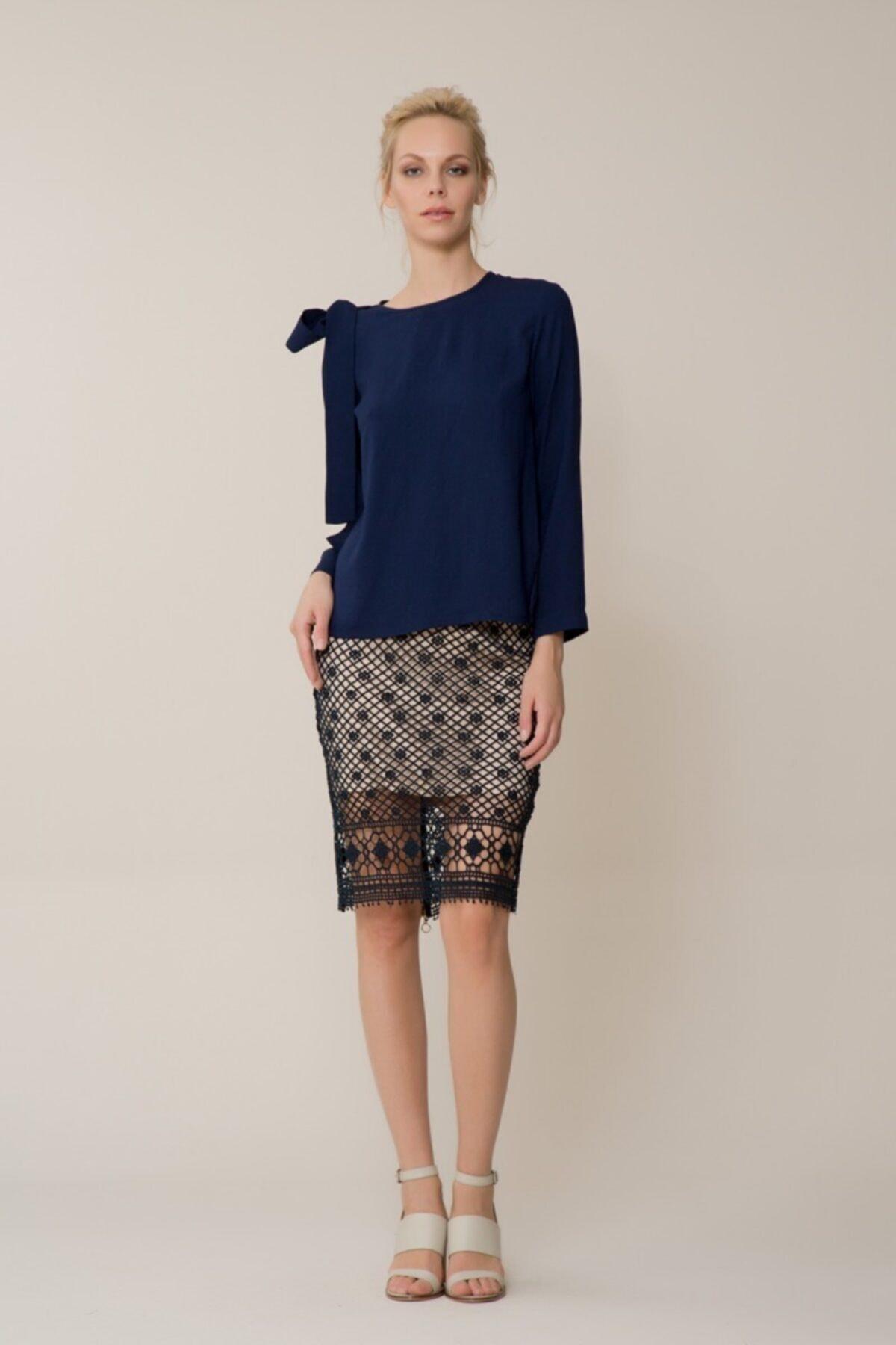 GIZIA CASUAL Kadın Lacivert Bluz M18YBW09412EB 2