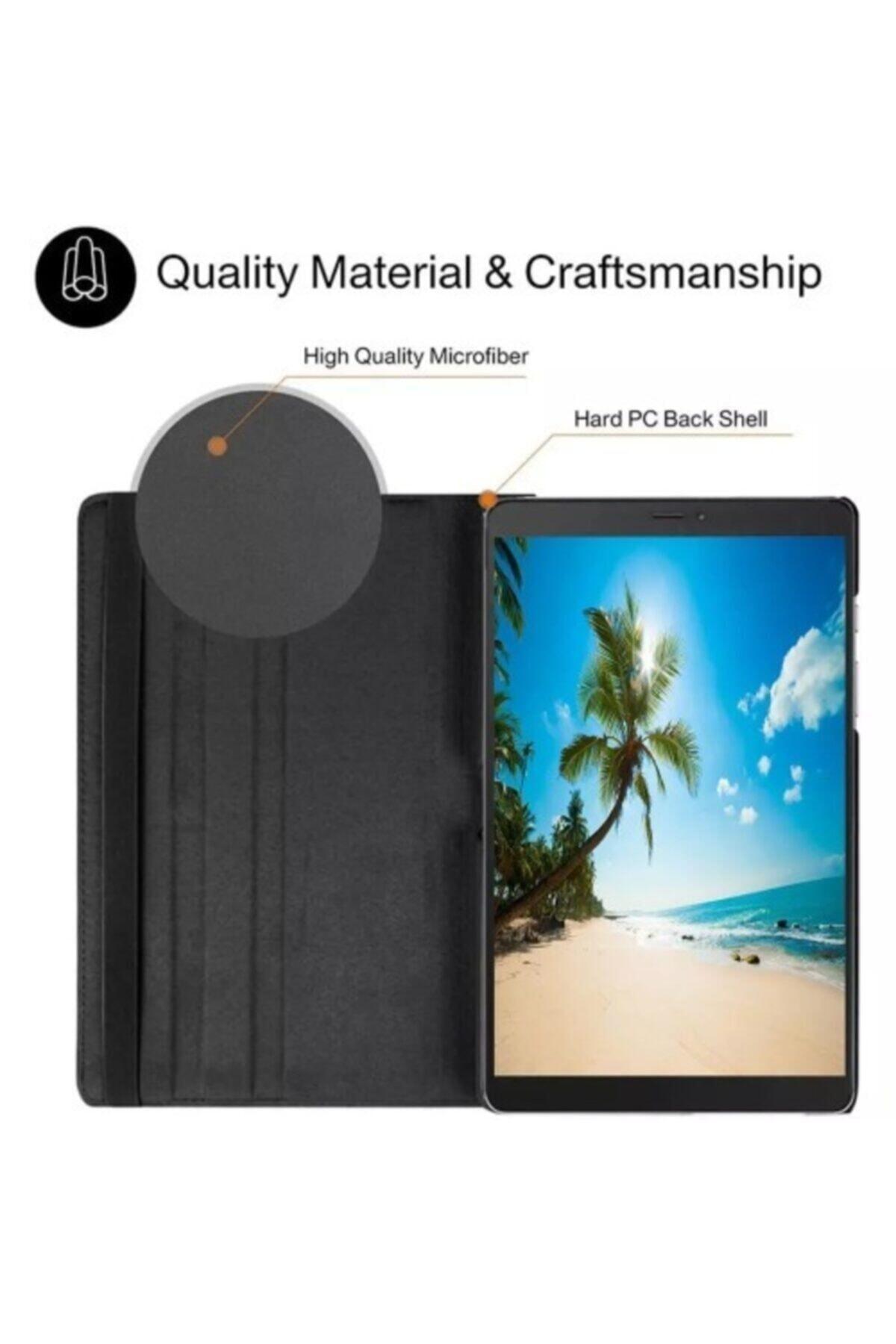 """HyperCep Samsung Galaxy Tab A7 T500 T505 T507 Kılıf 10.4"""" (2020) 360 Standlı Dönebilen Tablet Kılıfı Siyah 2"""