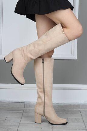 Modabuymus Kadın Bej Çizme