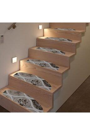 Step Desenli Halıdan Kaymaz Tabanlı Merdiven Basamak Paspası / Halısı