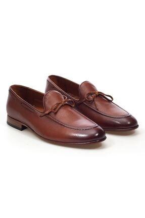 MARCOMEN Taba Bağcık Detaylı Hakiki Deri Bağcıksız Erkek Klasik Ayakkabı • A20eymcm0022