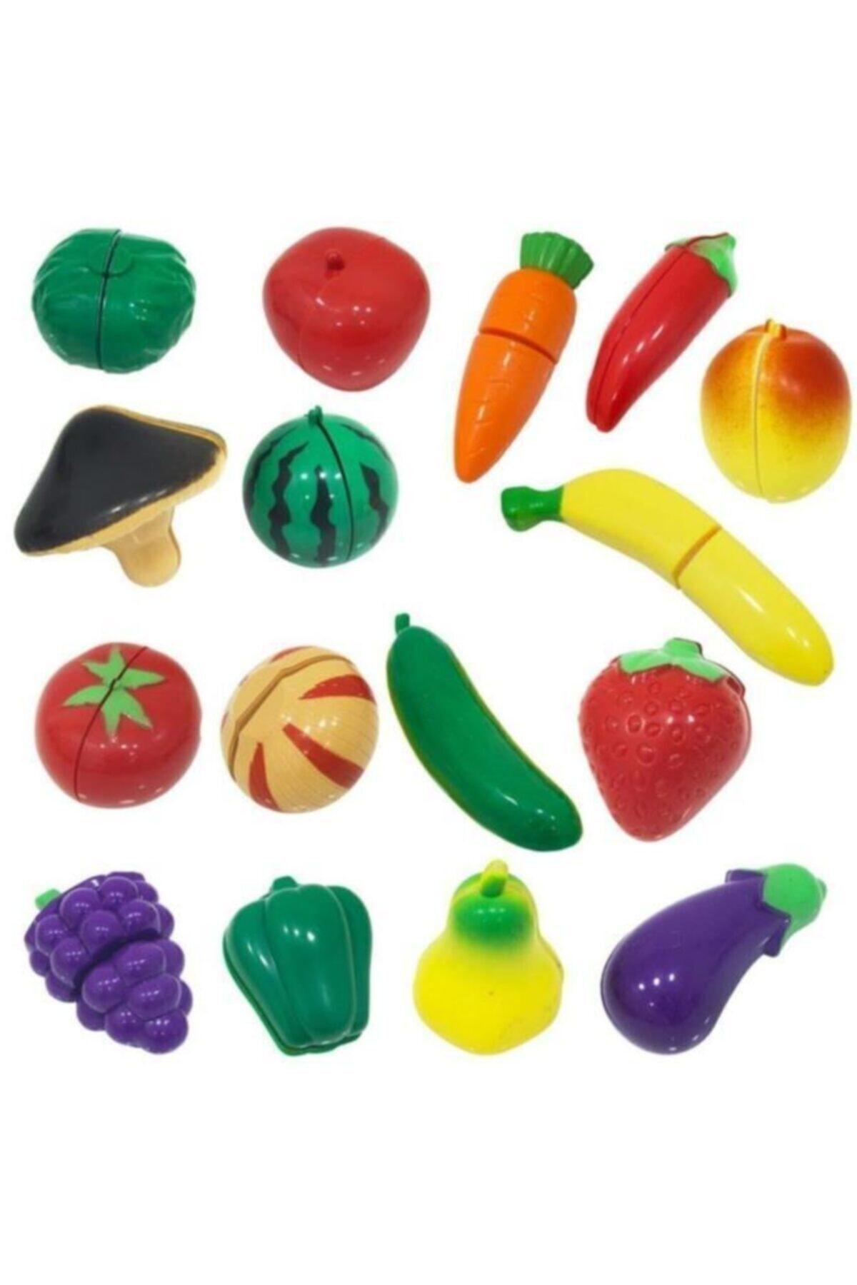 SmartFox Birlik Oyuncak 41 Parça Oyuncak Meyve Sebze Kesme Seti 2